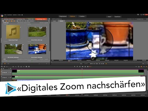 Digital Zoom schärfen Effekt in Pinnacle Studio 20 Deutsch Video Tutorial