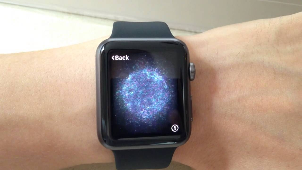 apple watch screen for sync