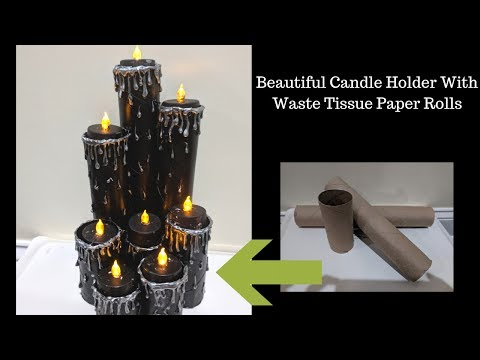 DIY |Candle Holder| Tealight Candle Holder | Diwali Special| Halloween Special