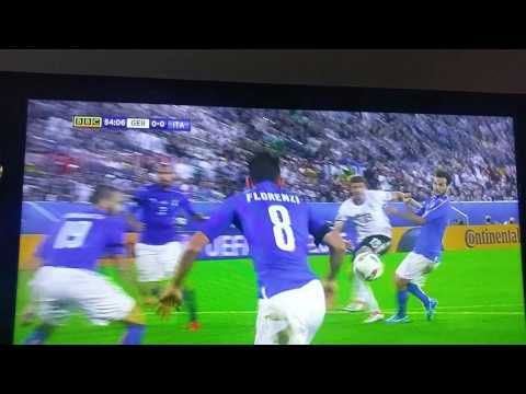 Germany v Italy Euro 2016 best moment ever!