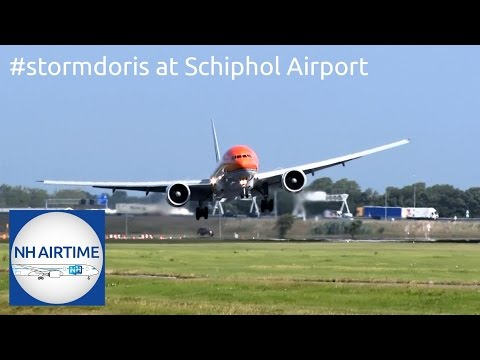 EARLIER LIVESTREAM: #STORMDORIS at SCHIPHOL AIRPORT
