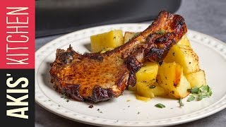 Lemon Roasted Pork Chops  | Akis Kitchen