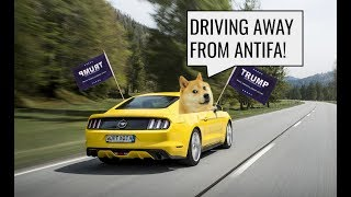 Running As Far Away From ANTIFA As Possible! - Zoomer Is On His Way To See Trump!