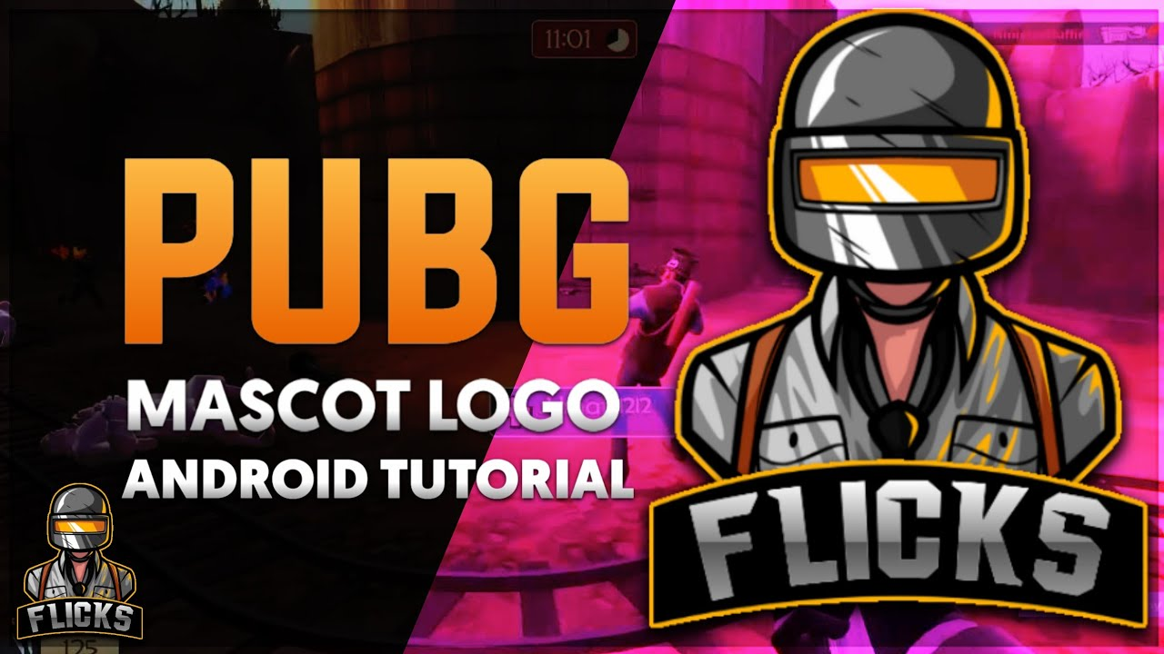 How To Make A Pubg Mascot Logo On Android Youtube