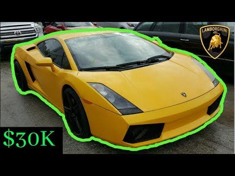 Copart: What a $30,000 Bid gets you. Cheap Lamborghini!