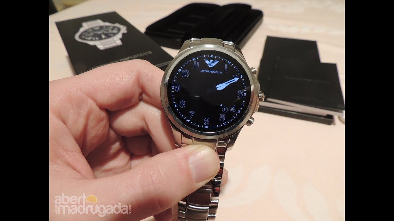 fd7b8e85655f7 Emporio Armani Connected Smartwatch - YouTube