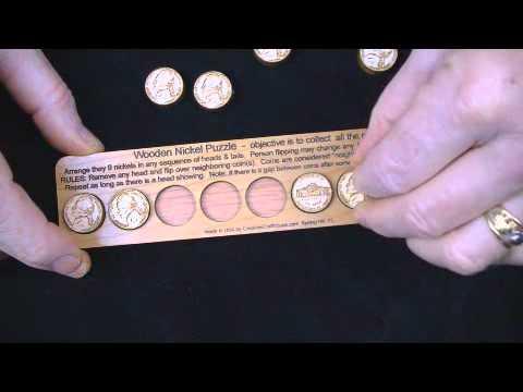 Wooden Nickel Brain teaser puzzle.wmv