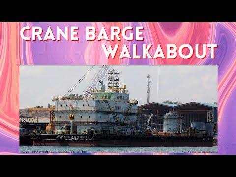 CRANE BARGE WALKABOUT (JALAN-JALAN DI KAPAL CRANE BARGE)