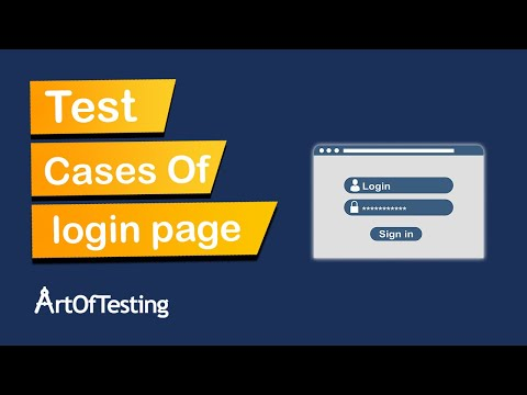 Test Cases for Login Page | How to write Test Cases for Login functionality? ArtOfTesting