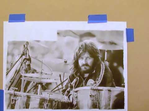 John Bonham Pencil Drawing by James Dylan