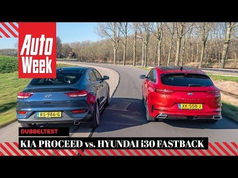 Kia Proceed Vs. Hyundai I30 Fastback - AutoWeek Dubbeltest - English Subtitles