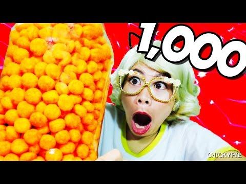 กินจุ กินโชว์ | กิน ชีส บอล 1,000 ลูก | คนกินจุ ชิคกี้พาย