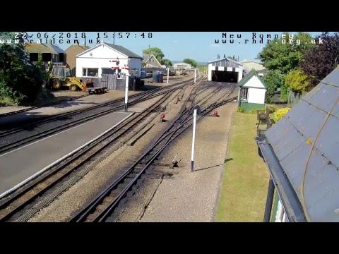 Railcam at the Romney, Hythe & Dymchurch Railway, New Romney Cam