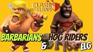 3 Star With Hog Riders And Barbarians Attack Strategy Gameplay | Clash of Clans