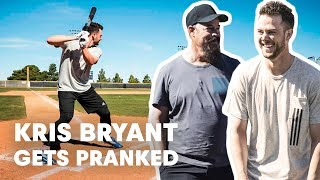 Baseball Star Kris Bryant Gets Pranked by Hall of Famer Greg Maddux thumbnail