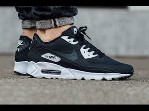 NIKE Air Max 90 Premium sz 13 Black Glow in the Dark Pack Limited