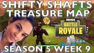 Fortnite: Follow the Treasure Map Found in Shift Shafts. Season 5 Week 9!