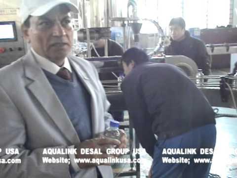 AQUALINK desalination Taiwan ,Testing equipment in Aqualink Taiwan factory for PET bottling line ,