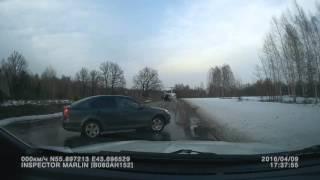 Частный вертолет R44, небогоугодная посадка на автодорогу (Нижегородская обл., 09.04.16)
