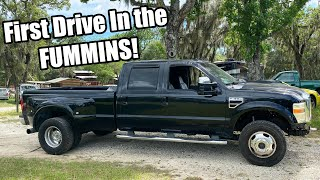 FIRST DRIVE In The CUMMINS Swapped FORD F-350!! Fummins Build Pt.19