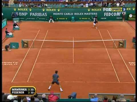Monte-Carlo 09: 3R Roger v Wawrinka (Highlights Pt 1)