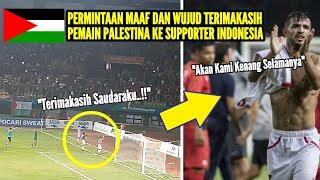 Moment Mengharukan Indonesia vs Palestina yang Akan Selalu di Kenang Selamanya