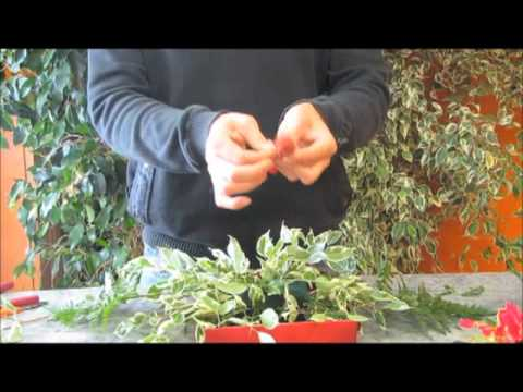 art floral, comment faire un centre de table pour noel - youtube