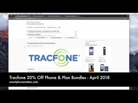 Tracfone 20% Off Phone & Plan Bundles - April 2018