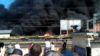 Пожар в Подольске на складе краски(, 2012-06-30T13:10:01.000Z)