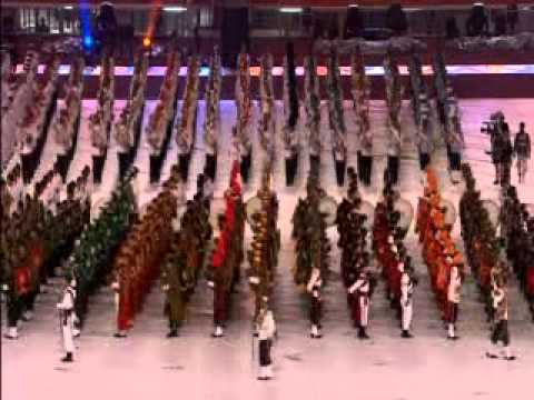 Indian Army Marching at Commonwealth Games Delhi 2010 Closing Ceremony