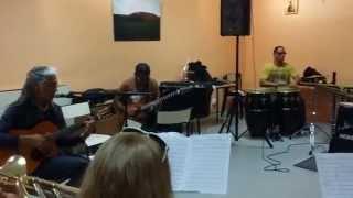 Chris Combette   Répétition à Yvetot 16 08 2015