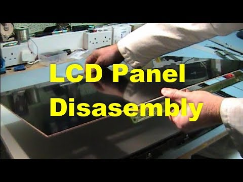 Lcd Panel Disassembly Youtube