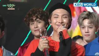 180525 BTS 'FAKE LOVE' 1st win @ KBS MUSIC BANK + encore