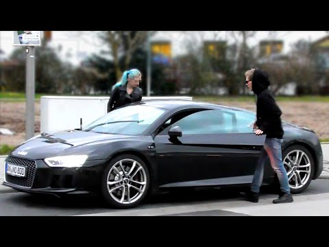 GOLD DIGGER PRANK - AUDI R8 2016 Rich Kid