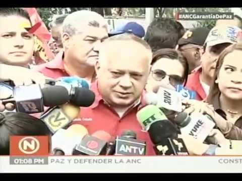 Diosdado Cabello declara desde la marcha en apoyo a la ANC este 10 de marzo de 2020