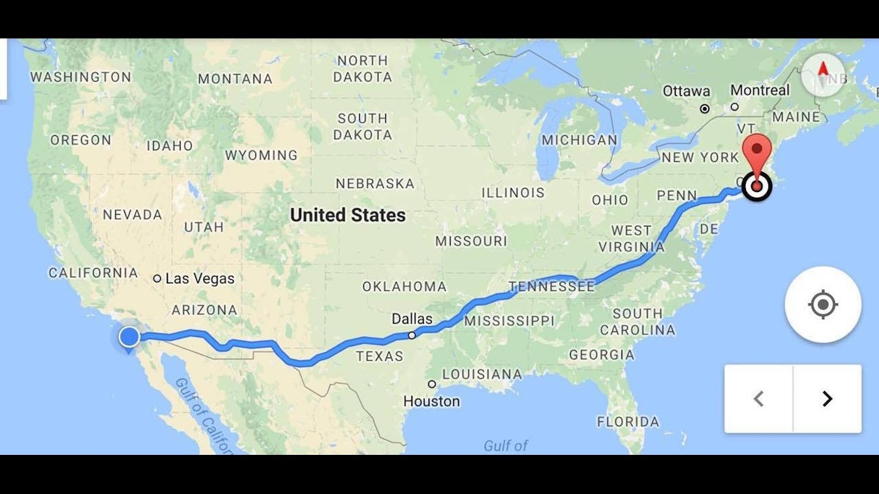 CROSS COUNTRY DRIVE  Connecticut to California  YouTube
