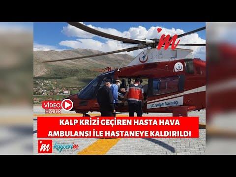 Kalp Krizi Geçiren Hasta Hava Ambulansı İle Hastaneye Kaldırıldı