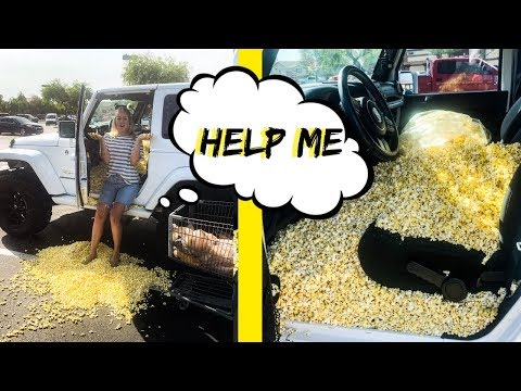 FILING MY WIFE'S CAR WITH POPCORN! *PRANK*