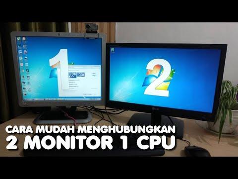 Cara Menghubungkan 2 Monitor dalam 1 PC, Kerja jadi Lebih Mudah.