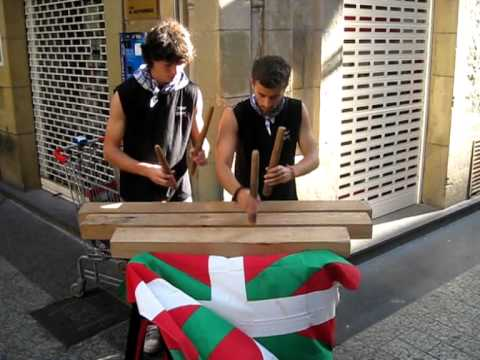 Txalaparta Played in The Basque Country