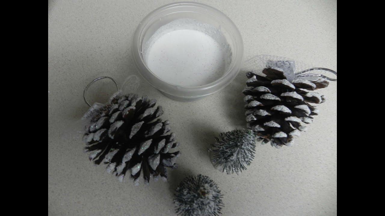 Manualidades para navidad como hacer nieve artificial for Manualidades para hacer adornos de navidad