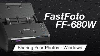 Epson FastFoto FF-680w boştaki devir | Windows Kullanarak Fotoğrafları Paylaşmak için Nasıl