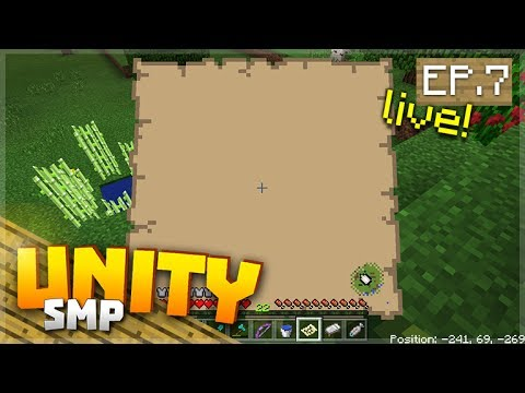 LIVE! TIME TO ADVENTURE & BUILD! EP.7 - Minecraft Pocket Edition Unity Realms SMP