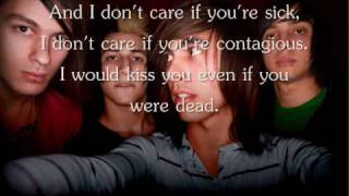 Repeat youtube video I Don't Care If You're Contagious by Pierce The Veil Lyrics.