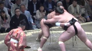 20150511 大相撲夏場所2日目 照ノ富士vs大砂嵐.