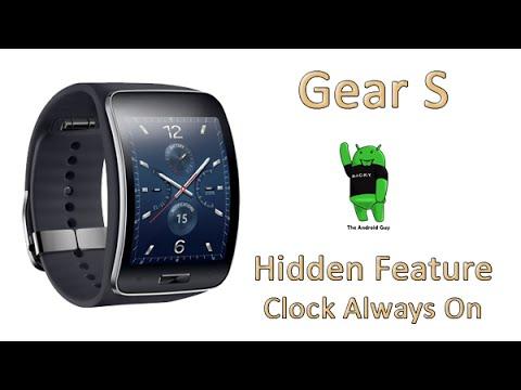 Gear S Hidden Feature - Clock Always On