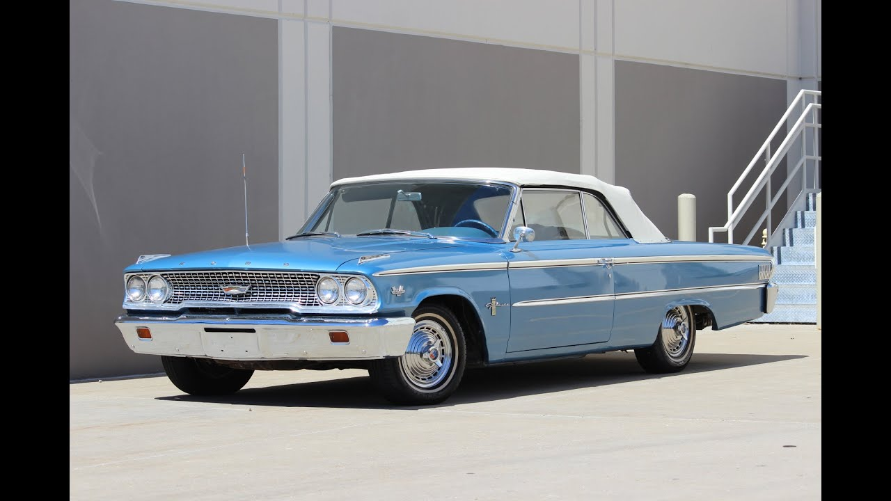 1963 Ford Galaxie Convertible 390 Police Interceptor for sale - YouTube