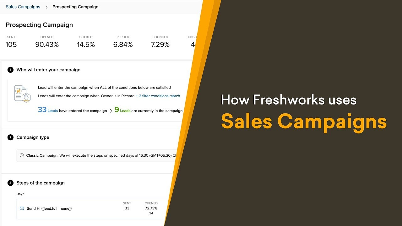 How Freshworks Uses Sales Campaigns   YouTube