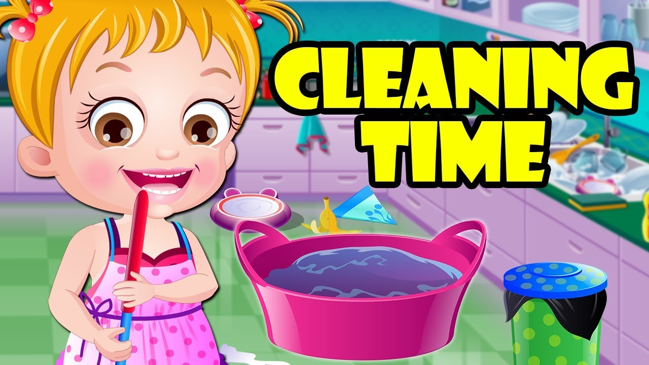 Baby Hazel Cleaning Time Fun Online Game For Kids To