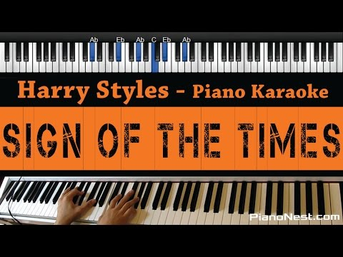 Harry Styles - Sign of The Times - Piano Karaoke / Sing Along / Cover with Lyrics